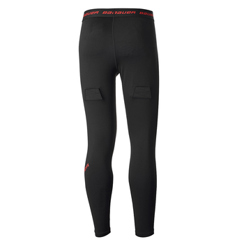 Bauer Essential Base Layer Compression Hockey Pant - Black, Red