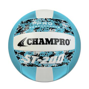 Champro ST200 Pro Performance Volleyball - Columbia Blue Camo