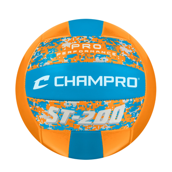 Champro ST200 Pro Performance Volleyball - Optic Orange Camo