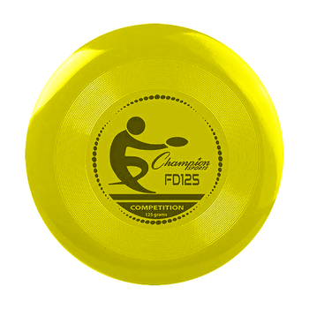 """Champion Competition Frisbee 9 3/4"""" 125 Gram Disc - Yellow"""
