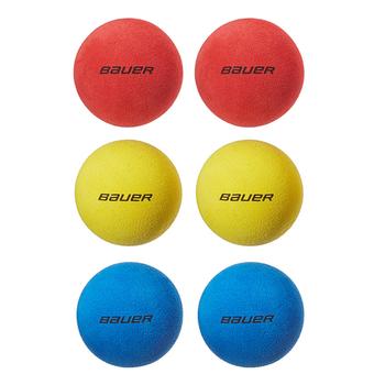 Bauer Mini Foam Hockey Balls - 6 Pack