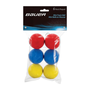Bauer Mini Foam Hockey Balls - 6 Pack with Package