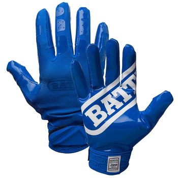 Battle Double Threat Senior Football Receiver Gloves - Blue, Blue