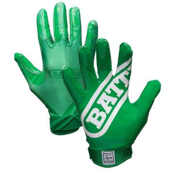 Battle Double Threat Youth Football Receiver Gloves - Green, Green