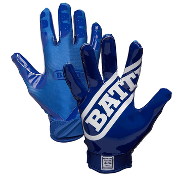 Battle Double Threat Youth Football Receiver Gloves - Navy, Navy