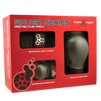 Triple 8 Saver Series Protective 3 Pack (Wrist, Elbow, Knee) - Junior Size