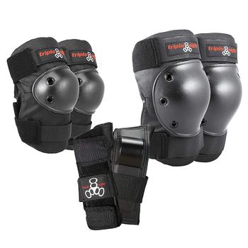 Triple 8 Saver Series Protective 3 Pack (Wrist, Elbow, Knee) -