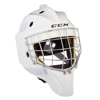 CCM Axis 1.5 Hockey Goalie Helmet - Senior / White