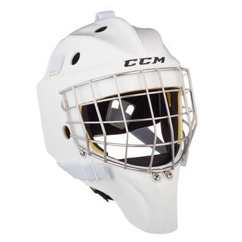 CCM Axis 1.5 Hockey Goalie Helmet - Senior / White