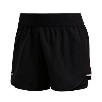 adidas Women's Club Shorts FK6999 - Black, Silver, White