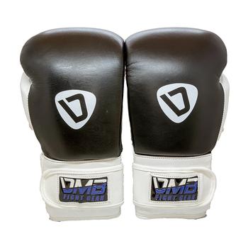DMB Blue G2 Leather Boxing Gloves - Black, White, Blue