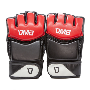 DMB Red Training MMA Grappling Gloves - Red, Black, White