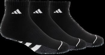 adidas Cushioned II Men's Quarter Socks 3-Pack - Black, White, Onix