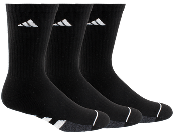 adidas Cushioned II Men's Crew Socks 3-Pack - Black, White, Onix Grey