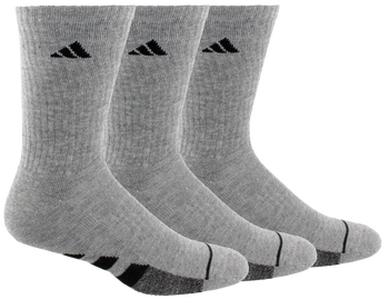 adidas Cushioned II Men's Crew Socks 3-Pack - Grey, Black