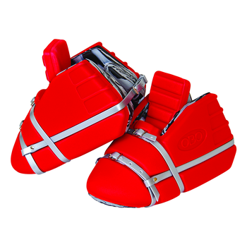OBO Cloud ROBO Mini Goalie Kickers for Smaller Players - Red