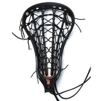 Brine Mantra IV Women's Strung Lacrosse Head - Black/Black/Orange