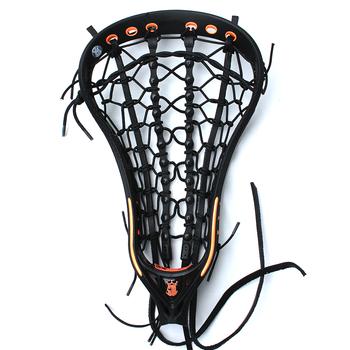 Brine Mantra IV Women's Strung Lacrosse Head - Black/Orange