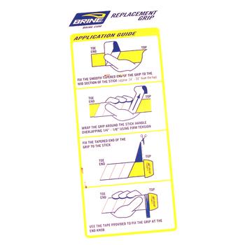 Brine Field Hockey Replacement Grip - Silver