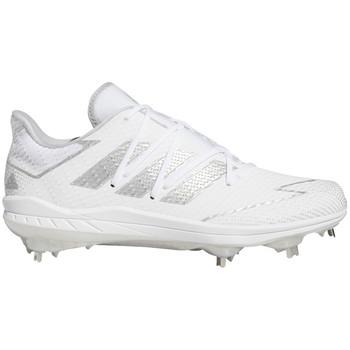 adidas Adizero Afterburner 7 Senior Baseball Cleats FV9400 - White, Silver, White