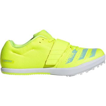 adidas Jumpstar Adult Track & Field Shoes FW2235 - Yellow, Aqua, Black