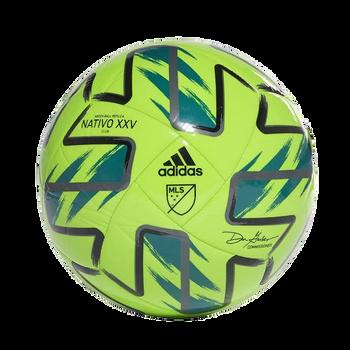 adidas MLS Club Soccer Ball FS6116 - Solar Green, Real Teal, Night Metallic