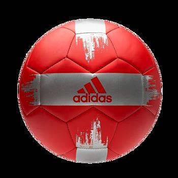 adidas EPP II Soccer Ball - Active Red, Silver Metallic