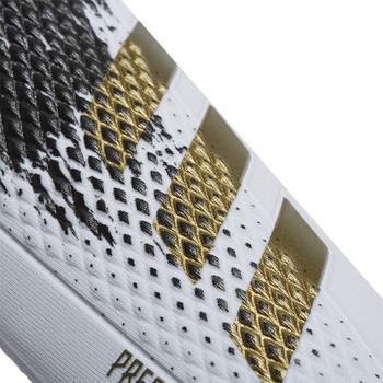adidas Predator Competition Soccer Shinguard & Sleeve Set GL7968 - White, Gold, Black