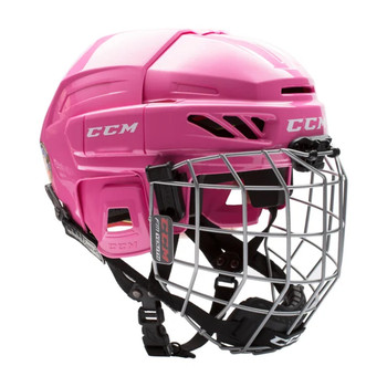 CCM Fitlite 3DS Youth Hockey Helmet Combo - Pink