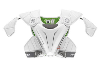 Maverik M5 EKG 2023 Lacrosse Shoulder Pads - White