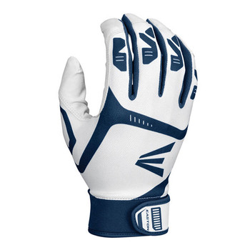 Easton Gametime Youth Baseball Batting Gloves - White, Navy