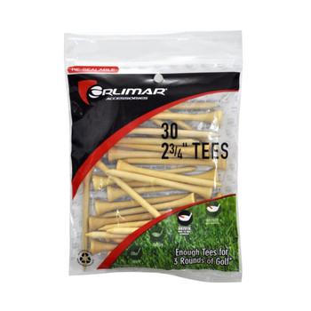 """Orlimar Wood Golf 2 3/4"""" Tees - 30 Pack"""