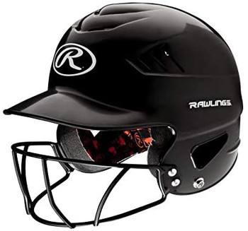 Rawlings Coolflo Baseball Batting Helmet with Facemask