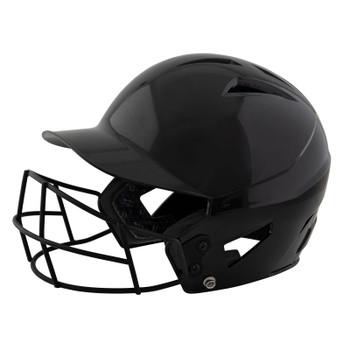 Champro HX Rookie Baseball Helmet w/Facemask; Uncoated