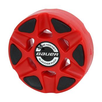 Bauer Slivvver Roller Hockey Inline Puck - Red