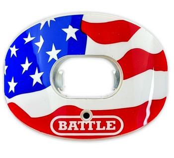 Battle Chrome Oxygen 2.0 Senior Football Mouthguard - USA Flag