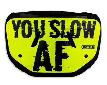 """Battle Adult Football 6.5"""" Back Plate - You Slow AF"""