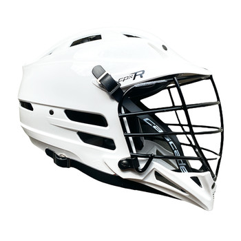 Cascade CPX-R Lacrosse Helmet - White with Black Cage/Black Chinstrap