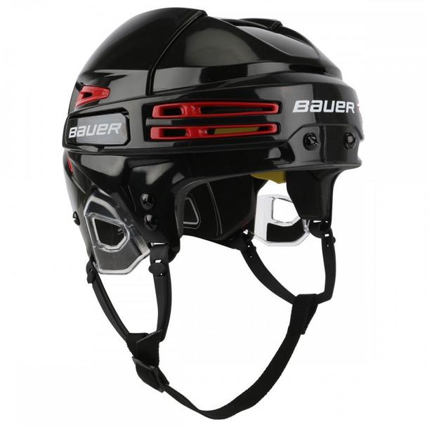 Bauer Re-AKT 75 Senior Ice Hockey Helmet Black with Red Vents
