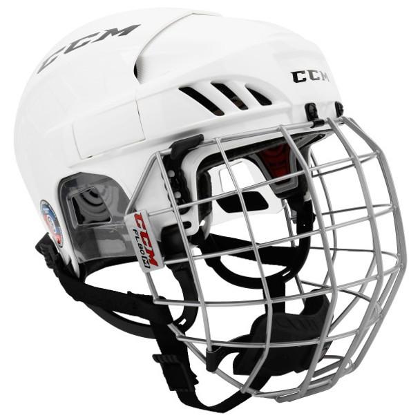 292e3361e75 CCM Tacks 310 Senior Ice Hockey Helmet Combo - White
