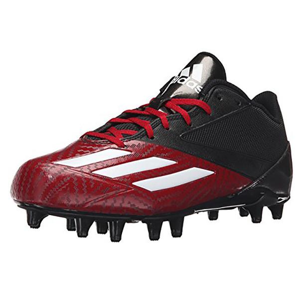 Adidas Adizero 5-Star Low Football Lacrosse Cleats D70176 - Black, Red