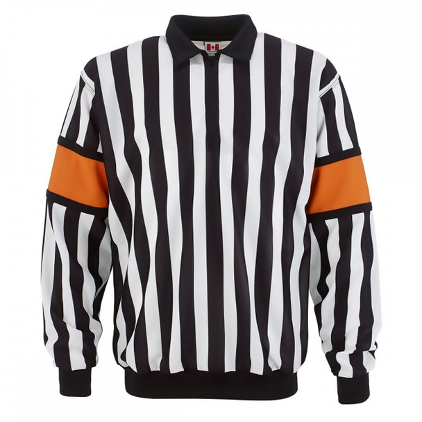 CCM Senior Hockey Referee Jersey Sewn-On Bands