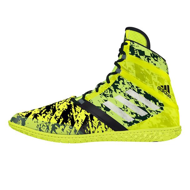 Adidas Impact Men's Wrestling Shoes AQ3320 - Yellow, Silver, Black