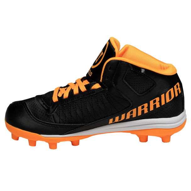 Warrior Vex 3.0 Junior Lacrosse Cleats - Black, Orange