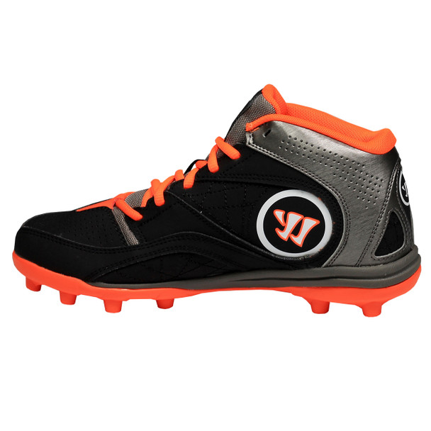 Warrior Vex 2.0 Junior Lacrosse Cleats - Black, Gray, Orange