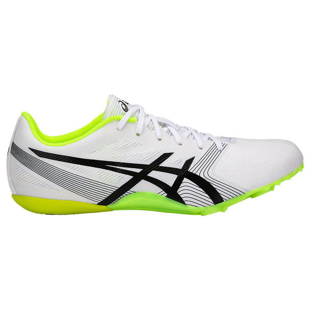 Asics HyperSprint 6 Men's Track and Field Shoes - White, Black, Yellow
