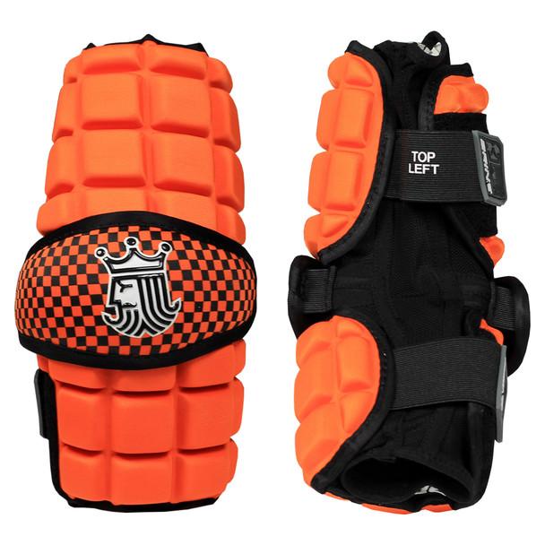 Brine Lopro Superlight Senior Lacrosse Arm Pads - Orange