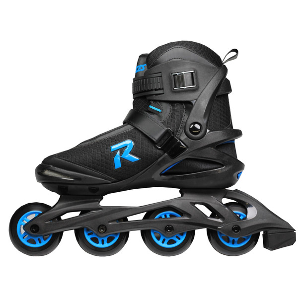 Roces Icon Men's Inline Hockey Skates - Black, Cyan
