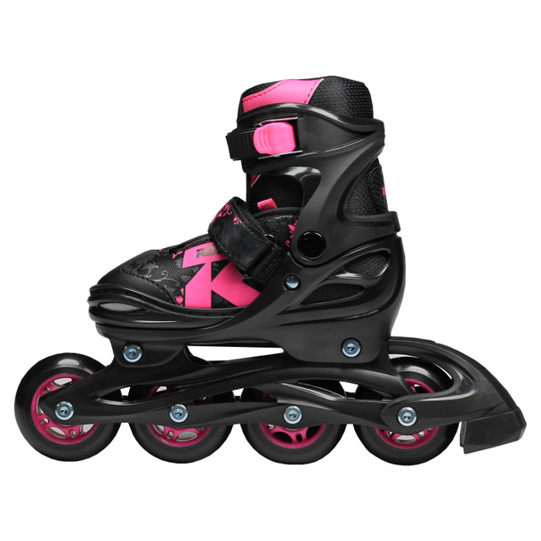 Roces Jokey 2.0 Girl's Adjustable Inline Hockey Skates - Black, Pink