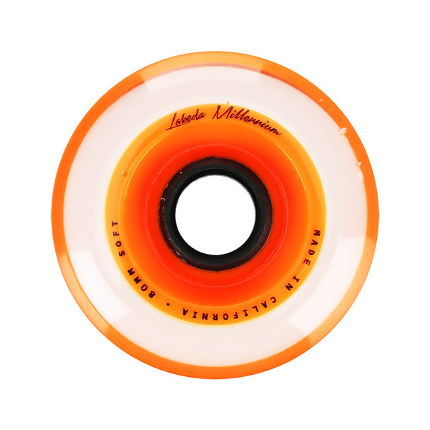 Labeda Millenium Inline / Roller Hockey Wheels 4 Pack - Orange, Black